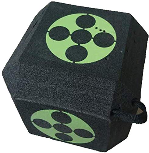 Poooooi Targets, 18-Sided 3D Cube Reusable Archery Target Constructed with Rapid Self Recovery XPE Foam for all Arrow Types Hunting Shooting