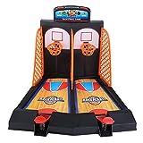 Hztyyier Juego de Juego de Tiro de Baloncesto Mini Juego de aro de Baloncesto Juguete de Juego de Mesa Interactivo Divertido Pinball para niños y Adultos
