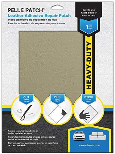 Pelle Patch - Parche Adhesivo de reparación para Cuero y Vinilo - Disponible en 25 Colores - Heavy-Duty 20cm x 28cm - Beige
