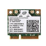 cigemay Tarjeta WiFi, Tarjeta Mini PCI-E WiFi, Tarjeta de Red inalámbrica de Banda Dual de 300 Mbps 2.4 / 5G, Adecuada para Intel 945/965 / GM45 / PM45, Compatible con el Sistema Windows 7/8/10