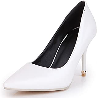 Women's Classic Pointy Toe High Stiletto Heels Slip On Pumps Shoes