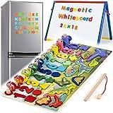 6 en 1 Juego de Madera Montessori Magnéticos de Madera para Niños Aprende a...