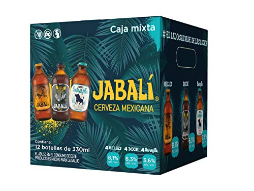 Cerveza Artesanal Jabalí Mixta 12 Pack Botella 330 Ml