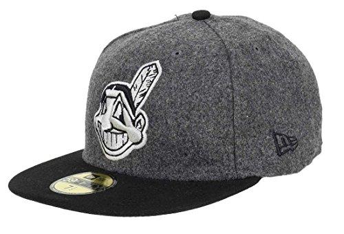 New Era Cleveland Indians 59FIFTY - Gorra de béisbol, color negro y gris