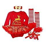BabyPreg - Disfraz de Papá Noel para bebé, 4 piezas, color rojo, 6 – 9 meses