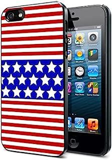 American Flag Colors - Apple iPhone 4/4s Black Case