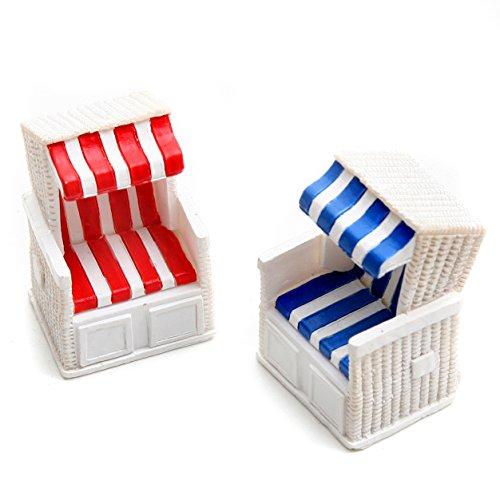 Dio Strandkorb Rot/weiß und Blau/weiß Gestreift, Poly (Rot)