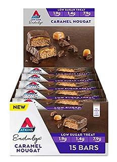 Atkins Endulge Caramel Nougat Bars | Keto Friendly Bars | 15 x 35g Low Carb Chocolate Bars | Low Carb, Low Sugar, High Fibre | 15 Bar Pack (B07VS19895) | Amazon price tracker / tracking, Amazon price history charts, Amazon price watches, Amazon price drop alerts