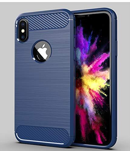 HUAI Funda de lujo suave a prueba de golpes para iPhone X XR XS MAX 11 Pro 5 6 S 5SE 5S 6S 7 8 Plus 6Plus 7Plus 8Plus funda trasera de teléfono móvil (color: azul, material: para iPhone 7)