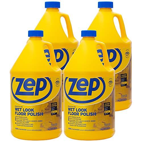 Zep Wet-Look Floor Polish 128 Ounces ZUWLFF128 (Case of 4) Long Lasting Shine