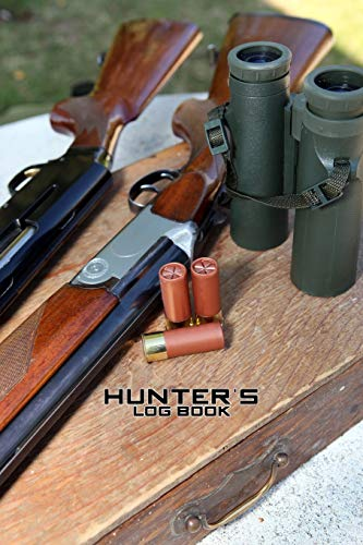 HUNTER'S LOG BOOK DOT GRID STYLE NOTEBOOK: 6x9 inch daily bullet notes on dot grid design creamy colored pages with hunting equipment rifle munition spy glass cover cool present idea
