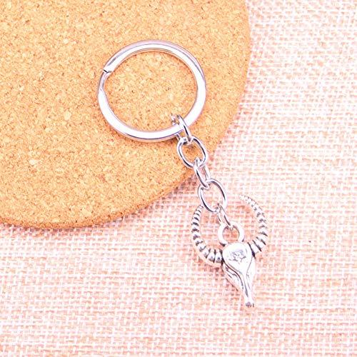 JJCDKL AutoschlüsselRing Anhänger Silber Farbe Metall Schlüsselanhänger ZubehörStier Ochsenkopf Schlüsselbund