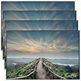 Snap Front Loading Desktop and Wall Mounted Photo, Set of 4 Picture Frame Set, 12' x 18'