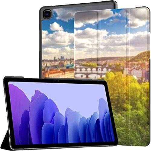 Funda para Samsung Galaxy Tab A7 Tablet de 10,4 Pulgadas 2020 (sm-t500 / t505 / t507), Amazing Spring Cityscape Vltava River Old Funda con Soporte de múltiples ángulos con activación/suspensión aut