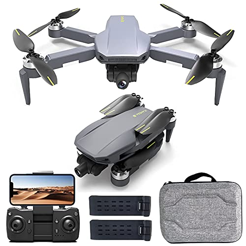LYHY Drone Fotocamera 4K, Quadcopter GPS 5G WiFi Rc con Ritorno Automatico Drone Portatile Follow Me con Tempo di Volo di 50 Minuti