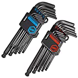 Get CARBYNE Long Arm Ball End Hex Key Wrench Set - 26 Piece, Inch/ Metric, S2 Steel Just for $24.88