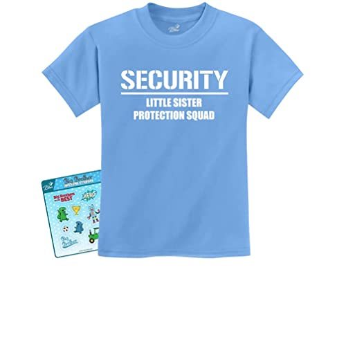 2bc5b0ba5b Gift for Big Brother - Security for My Little Sister Kids T-Shirt with  Stickers