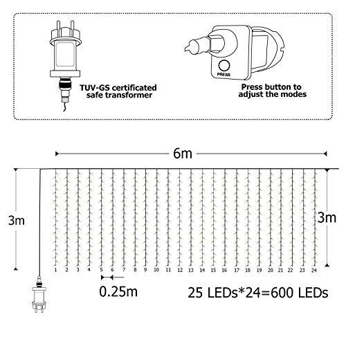 XXL Lichterkettenvorhang - 3