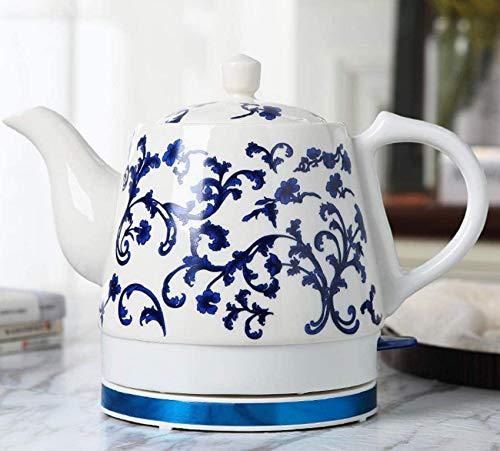 OH Céramique Bouilloire Électrique Sans Fil Eau Teapot, Teapot-Retro 1.2L Jug, 1000W Rapide de L'Eau Pour Le Thé, Café, Soupe, Flocons D'Avoine Amovible de Base accessoires de cuisi