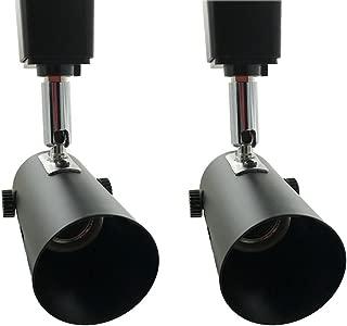 H System e26 Line Voltage Track Lighting Heads Fixture Compatible H Type 3-Wire Single Circuit Track Systems,for PAR20, R20, PAR30, BR30, BR40, PAR38 Light Bulbs (2 Pack-Without Bulbs)