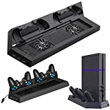 <span class='highlight'><span class='highlight'>EEEKit</span></span> Vertical Stand Cooling Fan for PS4, 2 Controllers Charging Dock, 2 Fans Cooling Station with USB HUB