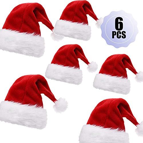MEISHANG Feutre de Bonnet de Noel,Chapeau de père Noël de Pompon,Tissu de bonnet de Noel,Bonnet de Père Noël en Peluche,Bonnet de père Noël en Tissu,Bonnet de Père Noël