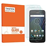 TANTEK [2-Pack] Screen Protector for Motorola Moto G5 Plus (MOTO G Plus 5th Generation),Tempered Glass Film,Ultra Clear,Anti Scratch,Bubble Free,Case Friendly
