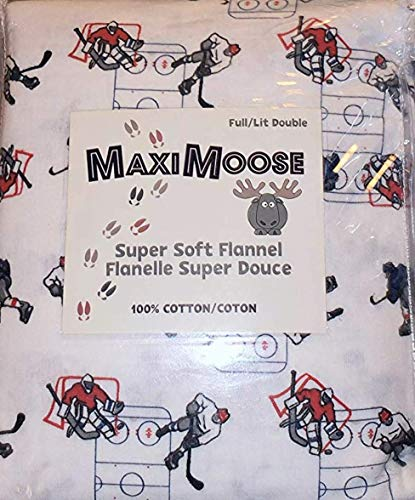 Maximoose Hockey Queen Flanellbettlaken-Set, Baumwolle, 4 Stück