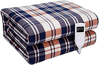 Survival Camping Electric Blanket Under Bed 210 X 180Cm Electric Blanket Underblankets 3 Temperature - Overheat Protection Dual Temperature Control
