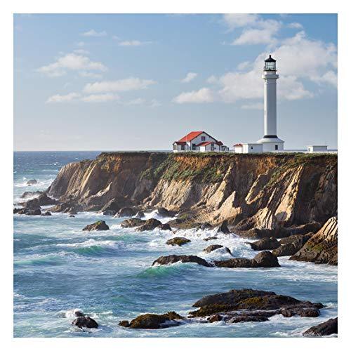 Tapete selbstklebend - Point Arena Lighthouse Kalifornien Quadrat 240 x 240 cm