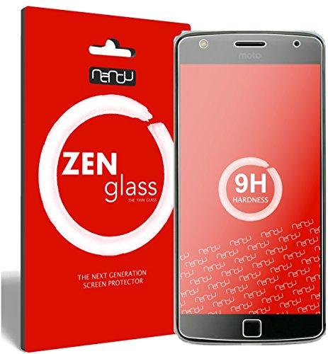 ZenGlass [2 Stück Flexible Glas-Folie kompatibel mit Lenovo Moto Z Play Panzerfolie I Bildschirm-Schutzfolie 9H I (Kleiner Als Das Gewölbte Bildschirm)