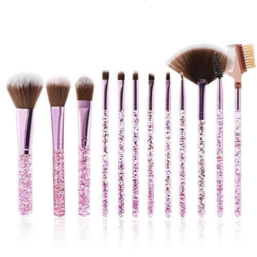 MWOOT Makeup Pinsel [Set mit 12], Kosmetik Pinselset, Damen Schminkpinsel Kit