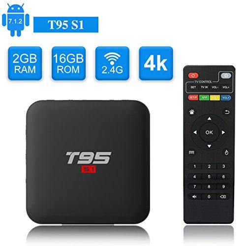 H.265 Hardware Video-Decoder Android TV Box TICTID S95X Pro Smart TV Box mit Amlogic S905X Quad-Core Prozessor 4K 100M LAN//2.4g WiFi 2GB DDR3 +16GB ROM