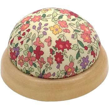gazechimp ピンクッション 針山 ミシン用 針 収納 半円形 花柄 おしゃれ 便利 愛好家 プレゼント 全4選択 - タイプ1