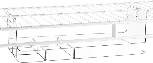InterDesign Wire Shelving Organizer, Under Shelf Bin - Small Divided, Clear