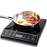 Duxtop 1800W Portable Induction Cooktop Countertop Burner,...