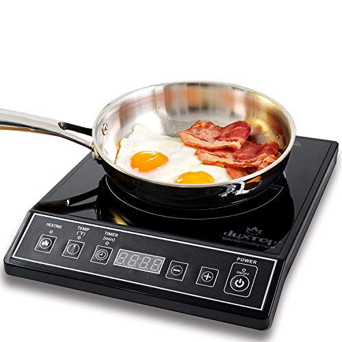 Image of Duxtop 1800W Portable Induction Cooktop Countertop Burner, Black: Bestviewsreviews