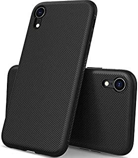KuGi Apple iPhone XR Case, Shock Absorption Protection Soft TPU Case Cover for Apple iPhone XR, Black