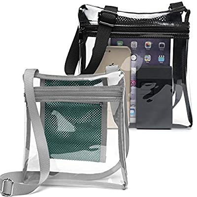 Clear Bag, F-color Clear Purse NFL, BTS Concert Stadium Approved Bag for Women