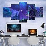 AWEIE Juego Warcraft 3 reforjada vídeo Cartel Sylvanas Wow Personaje del Juego Pinturas murales de la Imagen for la decoración de la Sala de Estar (Size (Inch) : Size 1 Unframed)