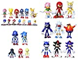 XINKONG Figura Sonic 27 unids/Lote 4-9 cm Figuras Sonic The Hedgehog Sonic Boom Shadow Tails Knuckle...