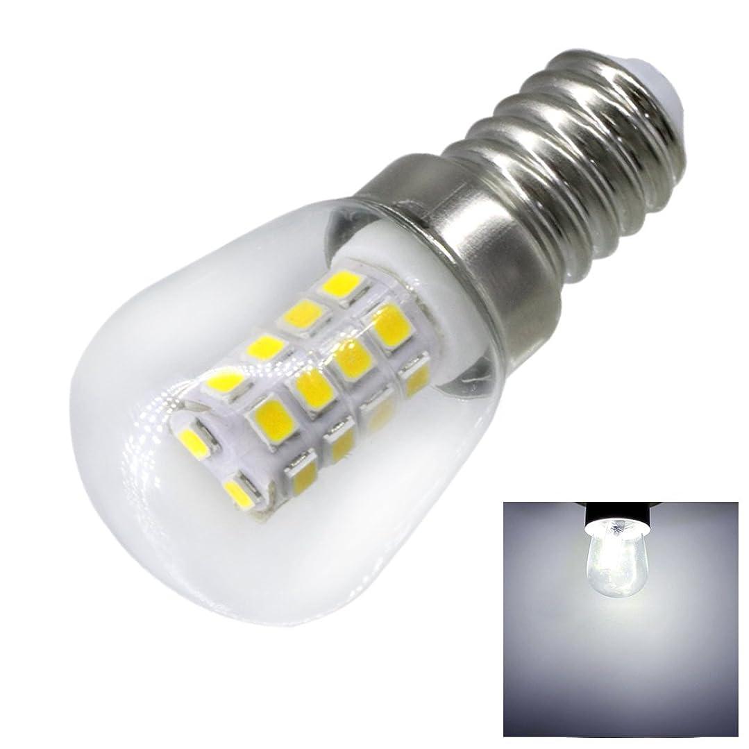 愛国的なおっとホテル照明ランプ LED 2W E14 冷蔵庫LED電球 AC220V 明るい屋内ランプ 冷蔵庫 冷凍庫クリスタルシャンデリア照明用 LEDライト (サイズ : 暖かい白)