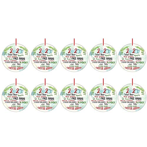 Christmas Decorations Gaoshi Christmas Ornaments, 2020 DIY Santa Claus Tree Wooden Hanging Ornaments Friends Gifts - Creative Decorating Kit Customized Ornament for Homelife Family - LXA15 (10pc)