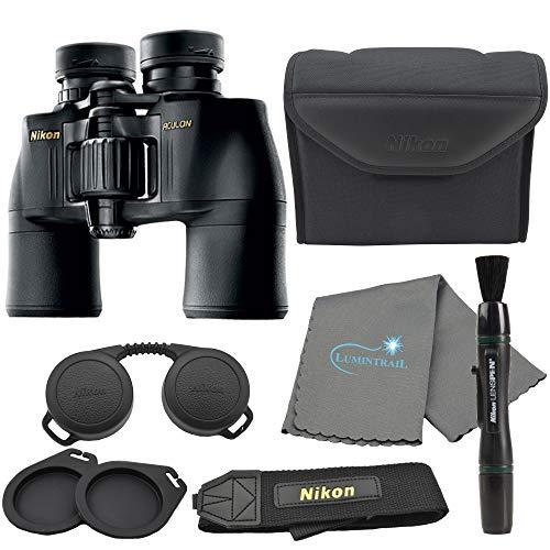 Nikon Aculon A211 10x42 Binoculars Black (8246) Bundle with a Nikon Lens Pen and Lumintrail Cleaning Cloth