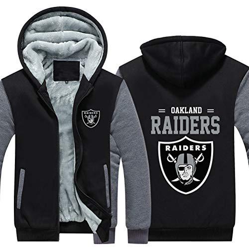 SHR-GCHAO Herren Winter Verdickung Hoodie - NFL Las Vegas Raiders Bequeme -Loose, komfortabel und kältebeständig,XXL