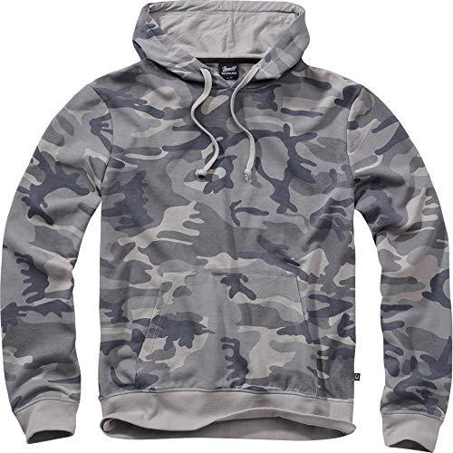 Brandit - Sudadera con capucha (varios colores, tallas de la S a la 7 XL) Grey Camo XXXXXL