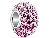 Cuentas de cristal Nalmatoionme para pulseras DIY, compatibles con pulseras y accesorios Pandora (color rosa)