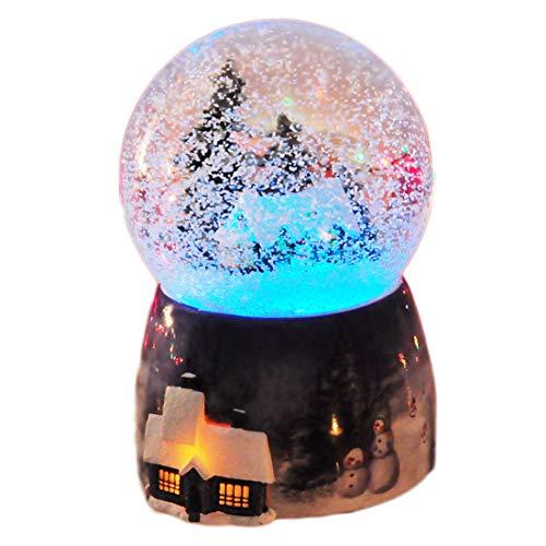 BOEHNER Kreative Schneeflocke Weihnachten Haus Crystal Ball Spieluhr, Weihnachten Octave Box M?dchen Geburtstagsgeschenk, Kinder Musik Plus Farbe Licht
