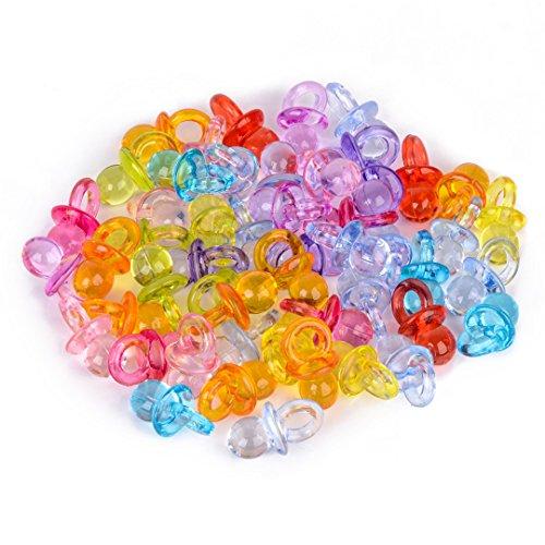 NaroFace 50stk Mini Schnuller Baby Dusche Bevorzugungen Party Dekoration (Mix Farbe)