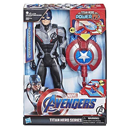 Avengers-E33011050 Avengers - Titan Hero FX Capitán América, Multicolor (Hasbro E3301105)